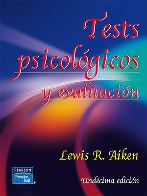 test psicologicos y evaluacion lewis aiken pdf