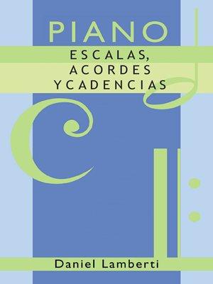 cover image of Piano. Escala, acordes y cadencias