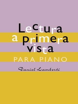 cover image of Lectura a primera vista para piano