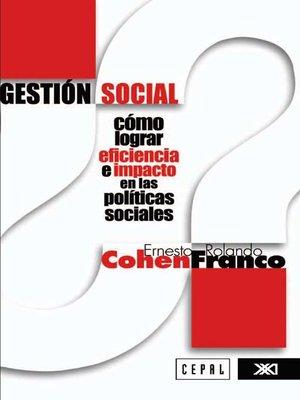 Evaluacion de proyectos sociales ernesto cohen y rolando franco