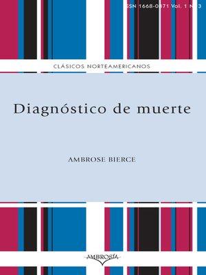 cover image of Diagnóstico de muerte