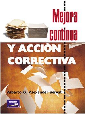 cover image of Mejora continua y acción correctiva