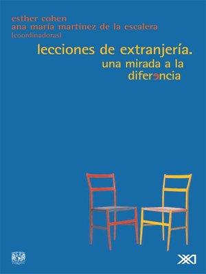 cover image of Lecciones de extranjería