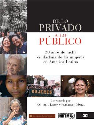 cover image of De lo público a lo privado