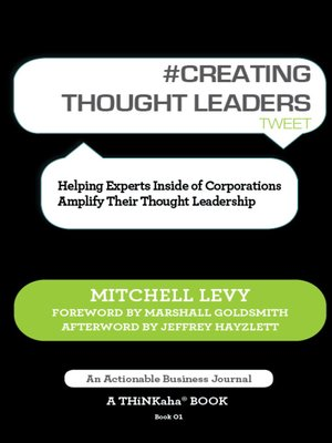 cover image of #CREATING THOUGHT LEADERS tweet Book01