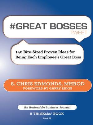 cover image of #GREAT BOSSES tweet Book01