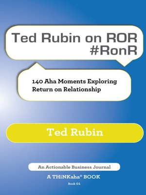 cover image of Ted Rubin on ROR #RonR