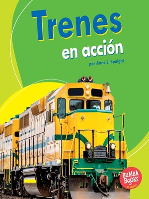cover image of Trenes en acción (Trains on the Go)