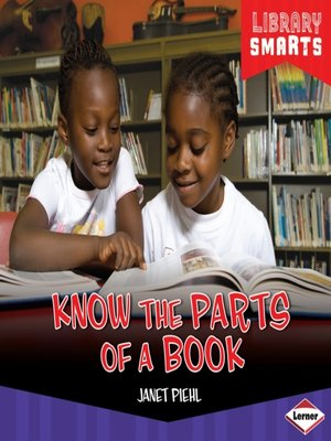 cover image of Know the Parts of a Book