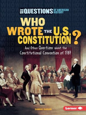 cover image of Who Wrote the U.S. Constitution?