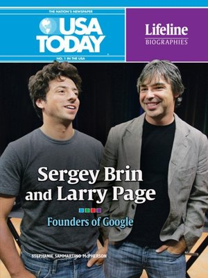 cover image of Sergey Brin and Larry Page