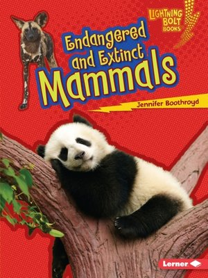 cover image of Endangered and Extinct Mammals