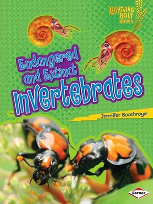 cover image of Endangered and Extinct Invertebrates
