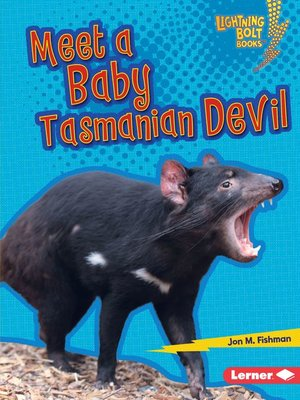 cover image of Meet a Baby Tasmanian Devil