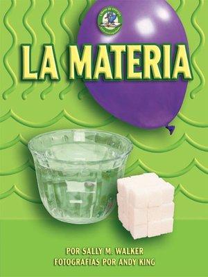 cover image of La materia (Matter)