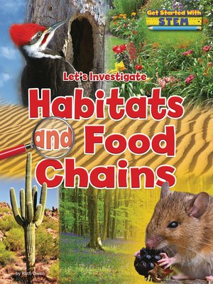 cover image of Let's Investigate Habitats and Food Chains