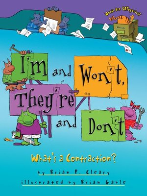 cover image of I'm and Won't, They're and Don't