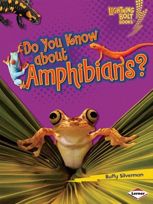 cover image of Do You Know about Amphibians?