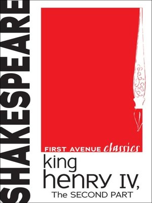 cover image of King Henry IV, The Second Part