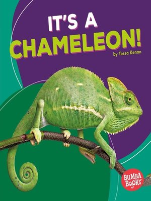 cover image of It's a Chameleon!