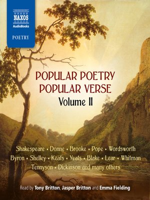 cover image of Popular Poetry, Popular Verse, Volume 2