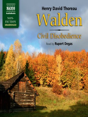 cover image of Walden/Civil Disobedience