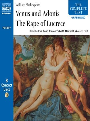 cover image of Venus & Adonis, the Rape of Lucrece