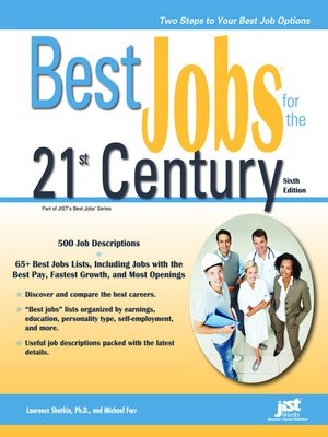 Best Jobs For The 21st Century By Laurence Shatkin border=