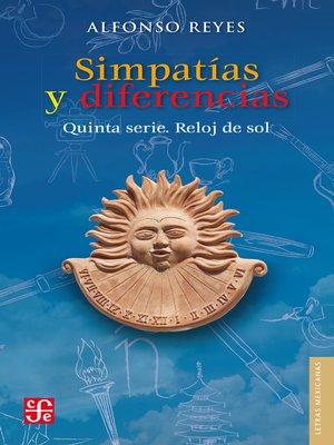 cover image of Simpatías y diferencias. Quinta serie. Reloj de sol