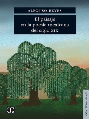 cover image of El paisaje en la poesía mexicana del siglo XIX