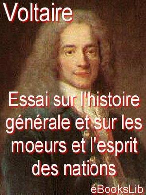 cover image of Essai sur l'histoire générale et sur les moeurs et l'esprit des nations, depuis Charlemagne jusqu'à nous jours