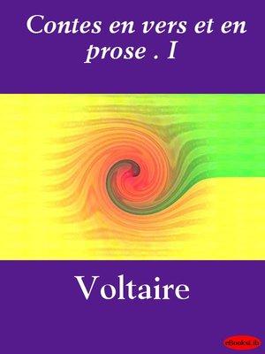cover image of Contes en vers et en prose. I