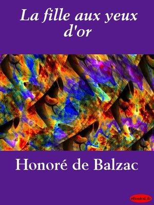 cover image of La fille aux yeux d'or