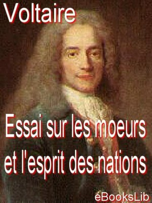 cover image of Essai sur les moeurs et l'esprit des nations
