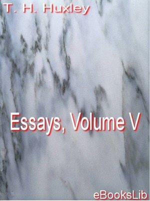 cover image of Essays, Volume V
