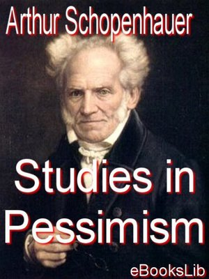 cover image of Studies in Pessimism