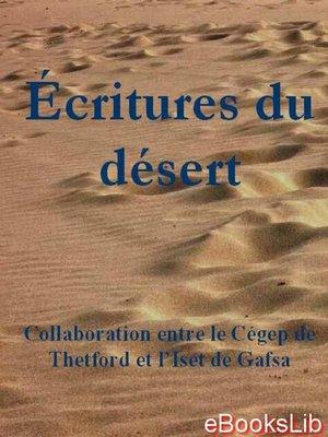 cover image of Ecritures du désert