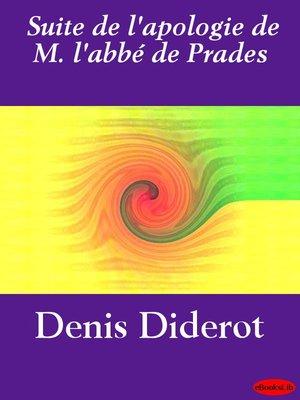 cover image of Suite de l'apologie de M. l'abbé de Prades