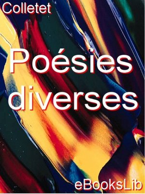 cover image of Poésies diverses