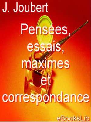 cover image of Pensées, essais, maximes et correspondance