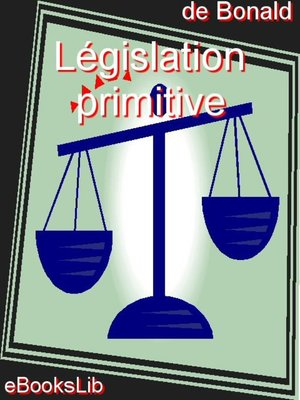 cover image of Législation primitive