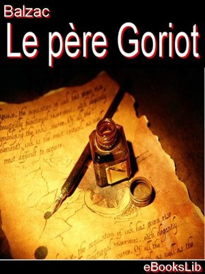 cover image of Le père Goriot