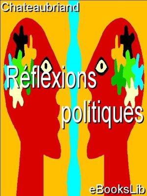 cover image of Réflexions politiques