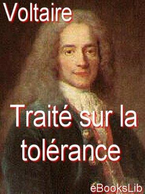 cover image of Traité sur la tolérance, à l'occasion de la mort de Jean Calas