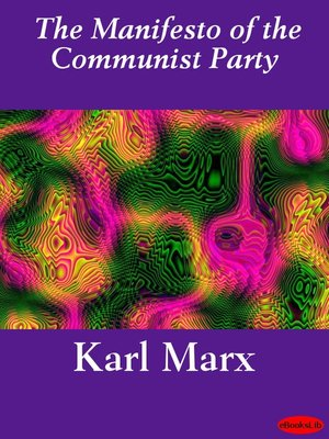 cover image of The Manifesto of the Communist Party