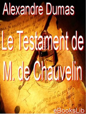 cover image of Le testament de M. de Chauvelin
