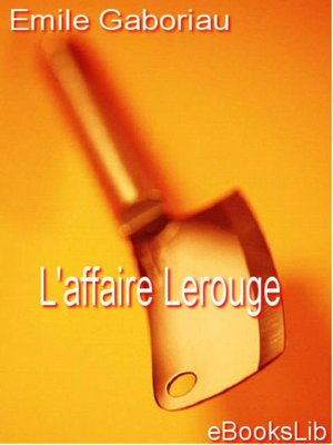 cover image of L'affaire Lerouge