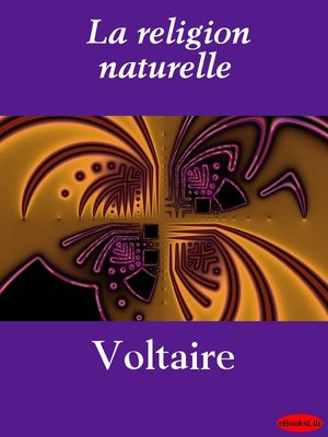 cover image of La religion naturelle