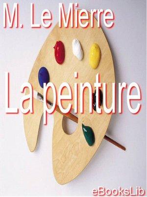cover image of La peinture
