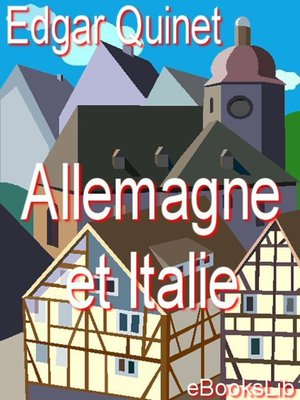 cover image of Allemagne et Italie